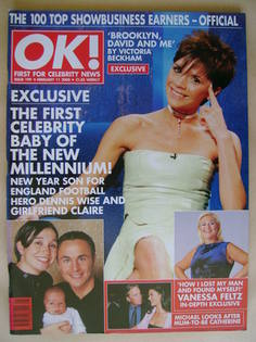 <!--2000-02-11-->OK! magazine - Victoria Beckham cover (11 February 2000 -