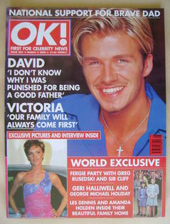 <!--2000-03-03-->OK! magazine - David Beckham cover (3 March 2000 - Issue 2