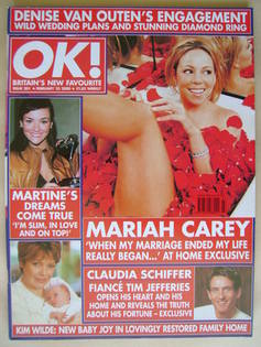<!--2000-02-25-->OK! magazine - Mariah Carey cover (25 February 2000 - Issu