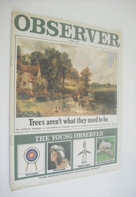 <!--1970-07-26-->The Observer magazine - Trees Aren't What They Used To Be