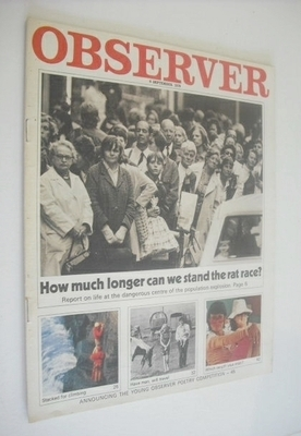 <!--1970-09-06-->The Observer magazine - The Rat Race cover (6 September 19