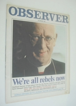 The Observer magazine - We're All Rebels Now cover (25 January 1970)