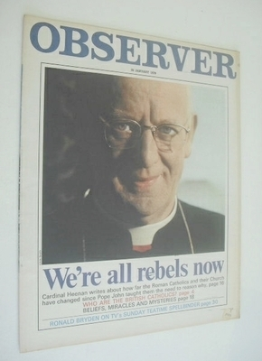 <!--1970-01-25-->The Observer magazine - We're All Rebels Now cover (25 Jan