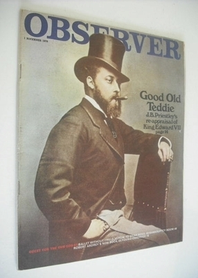 <!--1970-11-01-->The Observer magazine - King Edward VII cover (1 November
