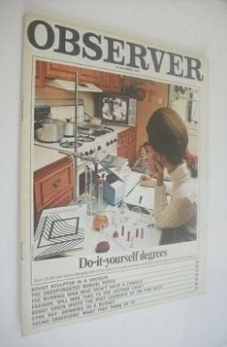 the observer magazine do it yourself degrees cover 15 november 1970. Black Bedroom Furniture Sets. Home Design Ideas