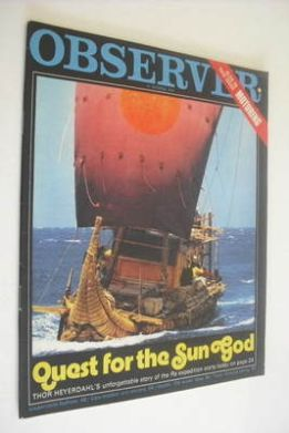 <!--1970-10-18-->The Observer magazine - Quest For The Sun God cover (18 Oc