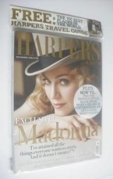British Harpers & Queen magazine - November 2005 - Madonna cover