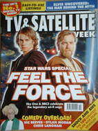 TV&Satellite Week magazine - Hayden Christensen & Ewan McGregor cover (14-2