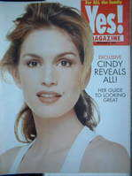 <!--1996-12-08-->Yes! magazine - Cindy Crawford cover (8 December 1996)