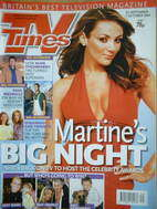 <!--2004-09-25-->TV Times magazine - Martine McCutcheon cover (25 September