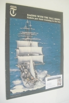 Weekend Telegraph magazine - Racing With The Tall Ships cover (8 July 1966)
