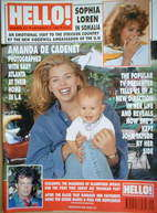 <!--1992-12-05-->Hello! magazine - Amanda de Cadenet cover (5 December 1992