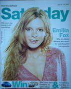 <!--2005-07-23-->Saturday magazine - Emilia Fox cover (23-29 July 2005)