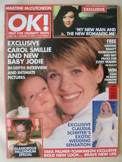 <!--1999-10-29-->OK! magazine - Carol Smillie and Baby Jodie cover (29 Octo