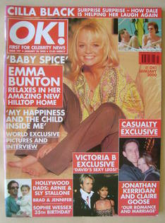 <!--2000-01-28-->OK! magazine - Emma Bunton cover (28 January 2000 - Issue