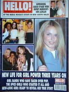 <!--1999-04-13-->Hello! magazine - The Spice Girls and All Saints cover (13 April 1999 - Issue 555)