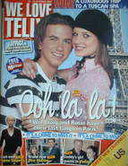We Love Telly magazine - Richard Fleeshman & Helen Flanagan cover (14-20 October 2006)