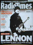 <!--2005-12-03-->Radio Times magazine - John Lennon cover (3-9 December 200