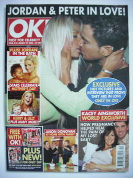 <!--2004-03-23-->OK! magazine - Jordan Katie Price and Peter Andre cover (2