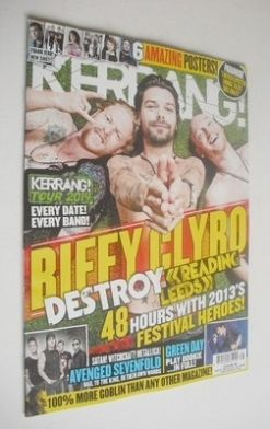 <!--2013-08-31-->Kerrang magazine - Biffy Clyro cover (31 August 2013 - Iss