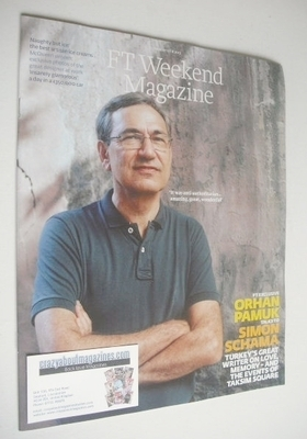 <!--2013-08-17-->FT Weekend magazine - Orhan Pamuk cover (17/18 August 2013