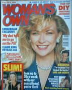 <!--1991-02-04-->Woman's Own magazine - 4 February 1991 - Claire King cover