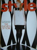 Style magazine - Sarah Ferguson - The Duchess of York cover (31 August 2003)
