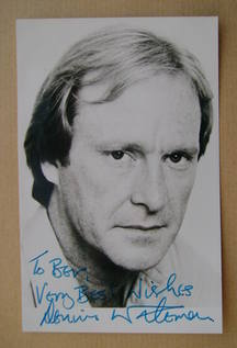 Dennis Waterman autograph (hand-signed photograph, dedicated)