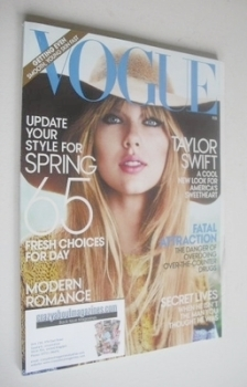 US Vogue magazine - February 2012 - Taylor Swift cover