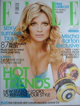 <!--2007-08-->British Elle magazine - August 2007 - Mischa Barton cover