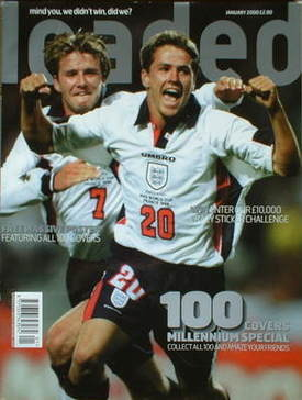 <!--2000-01-->Loaded magazine - Michael Owen and David Beckham cover (Janua