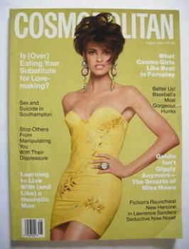 USA Cosmopolitan magazine (August 1990 - Linda Evangelista cover)