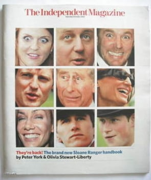 The Independent magazine - The Return Of The Sloane Ranger cover (6 October 2007)