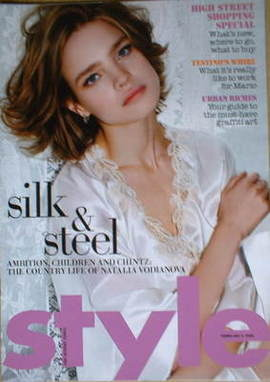 <!--2008-02-03-->Style magazine - Natalia Vodianova cover (3 February 2008)