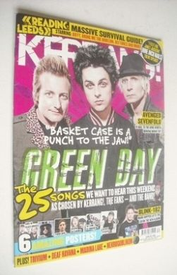 <!--2013-08-24-->Kerrang magazine - Green Day cover (24 August 2013 - Issue