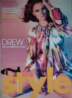 <!--2005-12-18-->Style magazine - Drew Barrymore cover (18 December 2005)