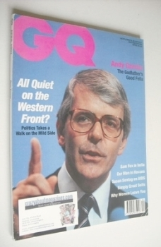 <!--1991-04-->British GQ magazine - April 1991 - John Major cover