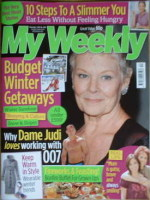 My Weekly magazine (1 November 2008 - Judi Dench cover)
