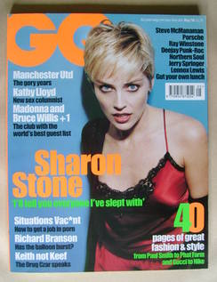 <!--1998-05-->British GQ magazine - May 1998 - Sharon Stone cover