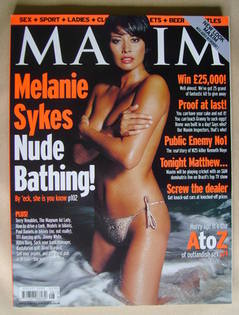 <!--2000-08-->MAXIM magazine - Melanie Sykes cover (August 2000)