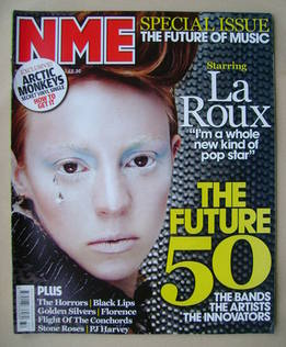 <!--2009-08-08-->NME magazine - La Roux cover (8 August 2009)