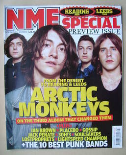 <!--2009-08-29-->NME magazine - Arctic Monkeys cover (29 August 2009)