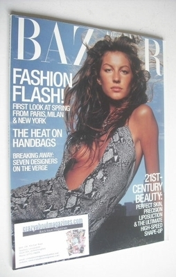 <!--2000-01-->Harper's Bazaar magazine - January 2000 - Gisele Bundchen cov