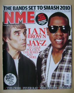 <!--2009-10-03-->NME magazine - Ian Brown and Jay-Z cover (3 October 2009)