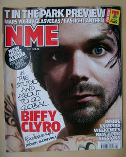 <!--2009-07-11-->NME magazine - Biffy Clyro cover (11 July 2009)