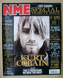 <!--2009-10-10-->NME magazine - Kurt Cobain cover (10 October 2009)