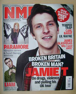 <!--2009-10-17-->NME magazine - Jamie T cover (17 October 2009)