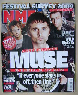 <!--2009-09-19-->NME magazine - Muse cover (19 September 2009)