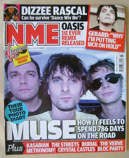<!--2008-08-16-->NME magazine - Muse cover (16 August 2008)