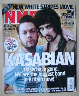 <!--2009-10-31-->NME magazine - Kasabian cover (31 October 2009)